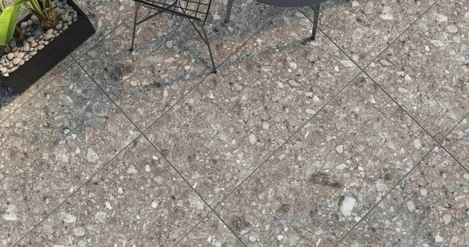 TERRA STONE GREY RECTIFIED LAPPATO PORCELAIN TILES