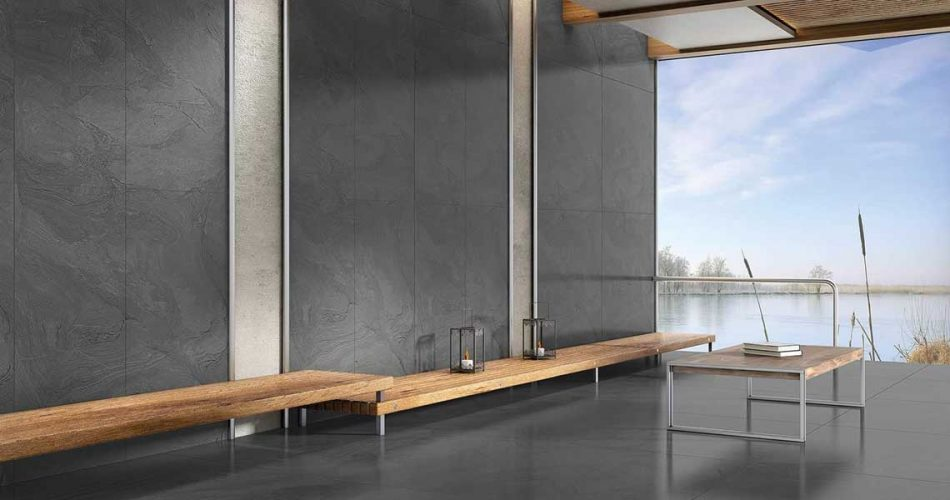 ATLANTIS ANTHRACITE RECTIFIED POLISHED NANO PORCELAIN TILES