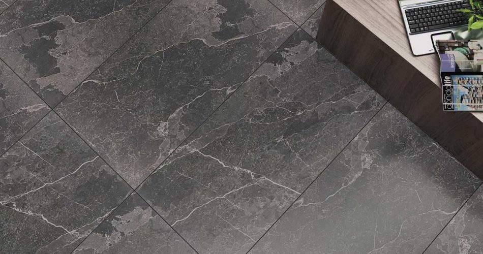 GEMSTONE ANTHRACITE RECTIFIED LAPPATO PORCELAIN TILES